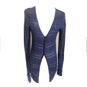 Etincelle Couture Blue Knit Cardigan Women's S